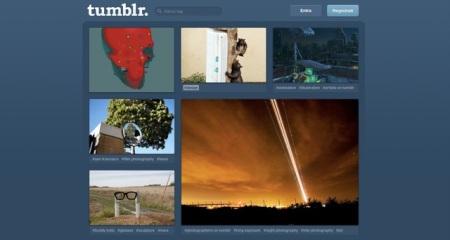 Schermata iniziale Tumblr